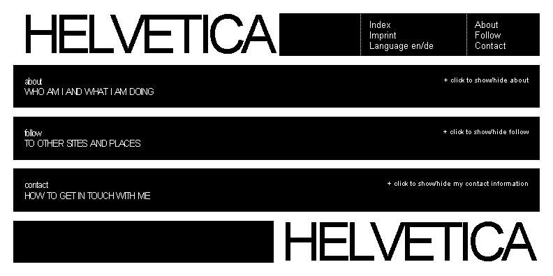 Helvetica Template Bildschirm Ansicht